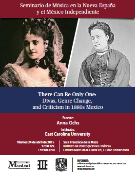 There Can Be Only One: Divas, Genre Change, and Criticism in 1880s Mexico.